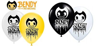8pcs Bendy And The Ink Machine Themed Printed Latex Balloons Kid Birthday Party  • 3.49£