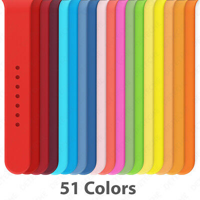 $ CDN5.86 • Buy Silicone Band Strap For Apple Watch Series 1/2/3/4/5/6/SE Sports 38/40/42/44mm