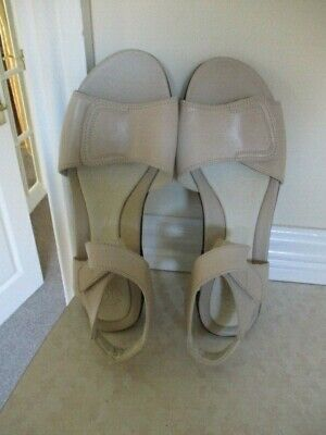Brand New Ivory Leather  Strap On Ankle & Toes K Sandals Pippin Pip Sz 7e • 14.99£