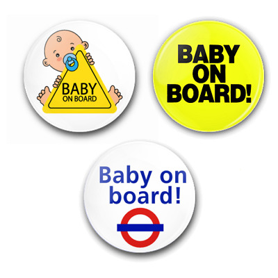 £0.99 • Buy BABY ON BOARD - 25mm Button Badges - Pregnancy Expecting Child Baby Underground