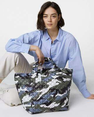 AU283.14 • Buy NWT $225 MZ Wallace METRO Med Tote Bag Leather Trim OCEAN CAMO