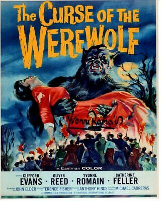 AU89.76 • Buy YVONNE ROMAIN Signed Autographed THE CURSE OF THE WEREWOLF Photo