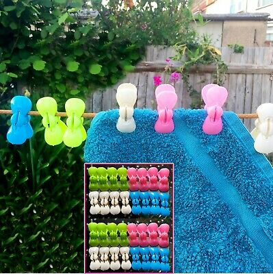 32x Strong Heavy Duty Pegs Buttrfly Plastic Laundry Washing Clothes Hanging Pins • 5.59£
