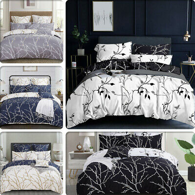 AU69.99 • Buy TREE Reversible Double/Queen/King/Super King Size Duvet/Doona/Quilt Cover Set