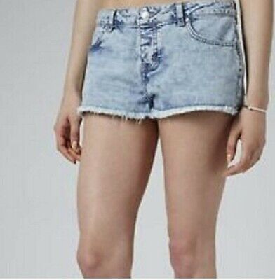 Topshop Daisy Micro Hotpant ,denim,bnwt,size 10 And 12 Uk • 15£