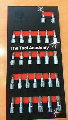 Britool Hallmark Socket Bit Set Hex Allen Torx Star 3/8 Drive In Foam Storage  • 44.95£
