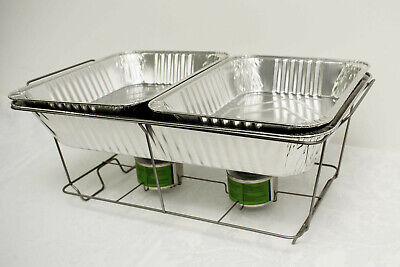 £27.99 • Buy Set Of 5 Disposable Chafing Dish Sets Food Pans Catering Food Parties Events Bbq