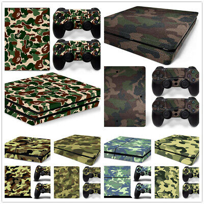 AU9.99 • Buy For  PS4 / SLIM /PRO Console Skin Decal Sticker + 2 Controller Skins Camouflage