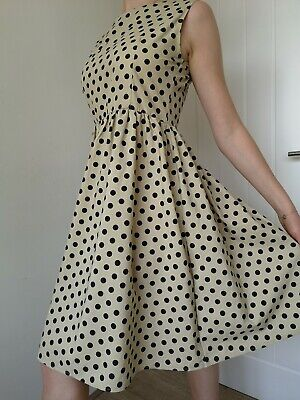 £15 • Buy 50's Style Polka Dot Summer Dress Fit & Flare - 10/12