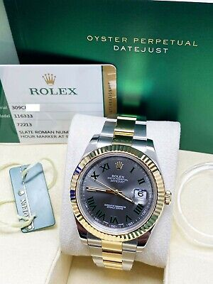 $ CDN14338.75 • Buy Rolex Datejust II 116333 Slate Dial 18K Yellow Gold Stainless Box Paper 2016