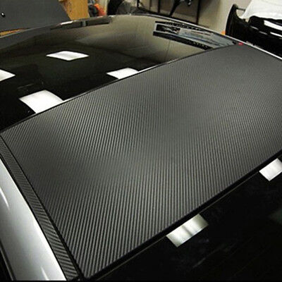 $ CDN5.20 • Buy 3D Car Interior Accessories Panel Black Carbon Fiber Vinyl Wrap DIY Sticker 1PCS