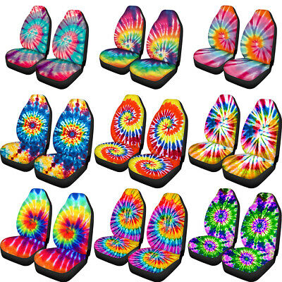 $37.99 • Buy Tie Dye Car Seat Covers For Women 2 PCS Set Auto Accessories Front Seats Cover