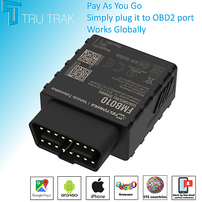 TruTrak GPS Tracking Device - Van Car Coach OBD II Tracker- Pay As You Go • 34.85£