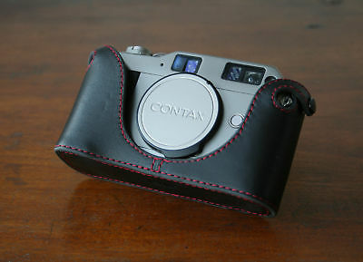$ CDN82.71 • Buy Mr. Zhou Red Stitching Leather Half Case For Contax G1