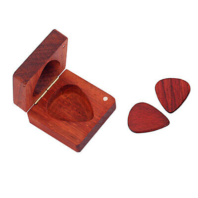 $ CDN12.70 • Buy Rosewood Engraved Guitar Pick Box Holder Case Wooden Square Musical Gift