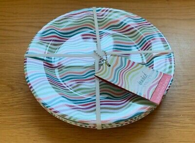 £5.50 • Buy Summit Multi Coloured Waves Side Plate 20 Cm Melamine Camping Party Tableware