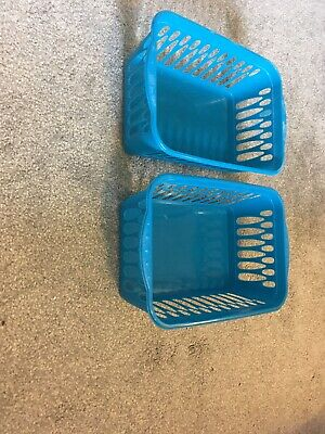X2 Teal Coloured Storage Baskets • 2.50£