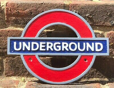 Underground London Tube Network Cast Iron Reproduction Sign Plaque • 20£