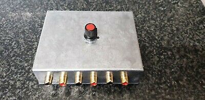 Audio Switcher ASPHO3MET RCA Phono Connectors Switch 3 Stereo INPUT DIECAST • 28£