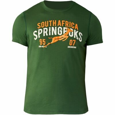 £11.99 • Buy ASICS South Africa Rugby Men's Springbok TIC Graphic Rugby T-Shirt - Green - New