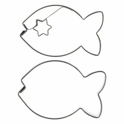 ORION Cookie Form / Cutter For Gingerbread FISH Shaped 2 Pcs. • 4.99£