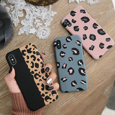 Case For IPhone 11 Pro MAX 11 XS 7 8Plus Leopard Print Soft Silicone Phone Cover • 3.88£