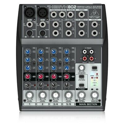 Behringer XENYX 802 8-Input 2-Bus Mixer - XENYX Mic Preamps And British EQ's • 69£