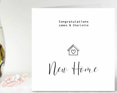 Personalised New Home Card • 2.65£