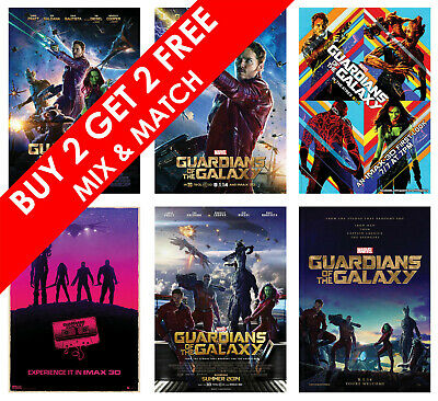 £4.29 • Buy Guardians Of The Galaxy Movie Posters MARVEL Film Art Print Home Decor Gift Idea