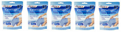 5 X Ice Wrap Cold Bandage Sports Injury Twists Strains Sprains Cooling Therapy • 9.99£