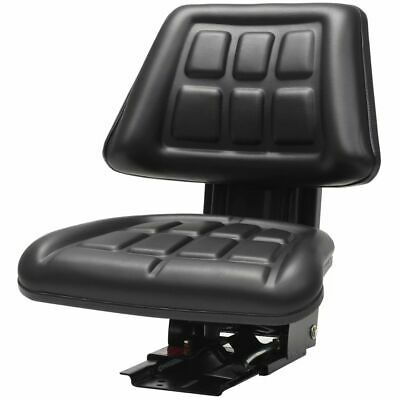 AU170.95 • Buy Reclining Tractor Seat With Sliding Tracks Heavy Duty Suspension Steel Frame