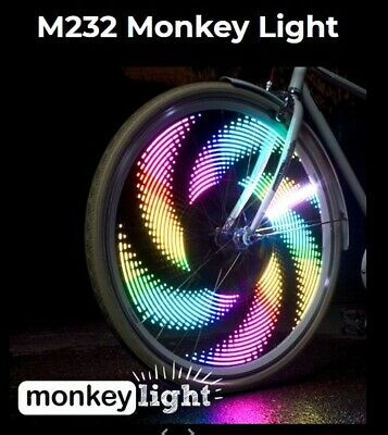 Monkey Lectric Bike Lights.  32 Different Awesome Patterns For Your Wheels. • 45£