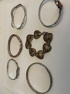 $ CDN75 • Buy 6 PC LOT 925 Sterling Silver Bracelets Pendant All Wearable 100gm