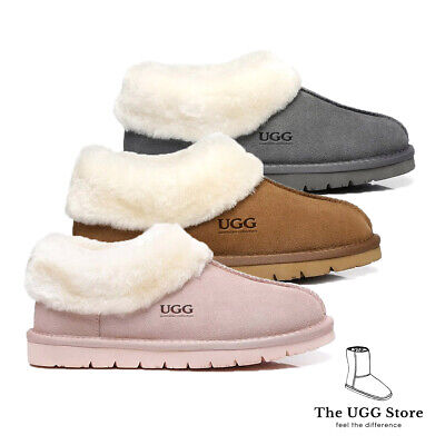 AU52.99 • Buy UGG Homely Unisex Slippers / Scuffs, Premium Australian Sheepskin Lining/insole