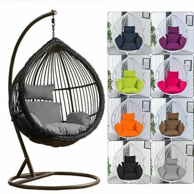 Foldable Wicker Swing Egg Chair Hanging Cushion Stand Porch Outdoor Cushion Only • 30.55£
