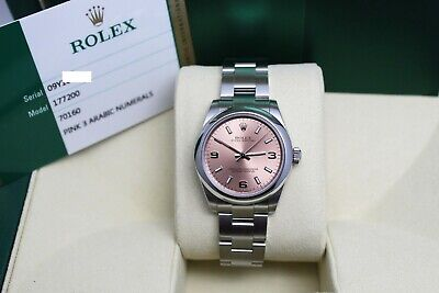 $ CDN6351.51 • Buy Rolex Midsize Oyster Perpetual 177200 Pink Dial Stainless Steel Box Papers 2016