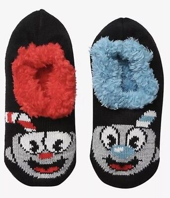 $19.79 • Buy Cuphead And Mugman Cozy Fluffy Slipper Socks Anti Slip