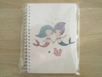 New Magical Mermaid A6 Notebook Childrens Adults Birthday Party Bag Gift Cream • 2.45£