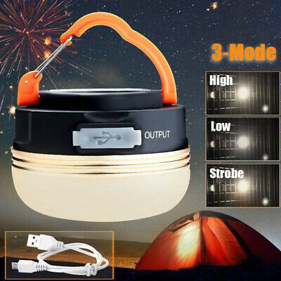 £9.11 • Buy USB Rechargeable LED Camping Light Tent Portable Lantern Night Lamp Outdoor UK