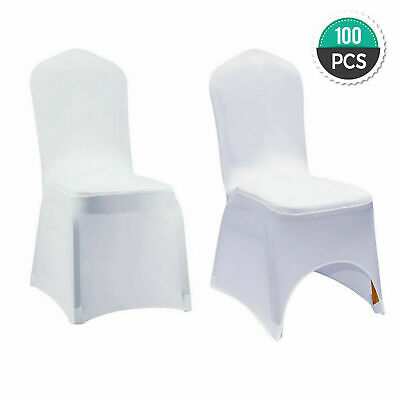 $101.30 • Buy Wholesale 100Pcs Universal White Polyester Spandex Wedding Party Chair Covers