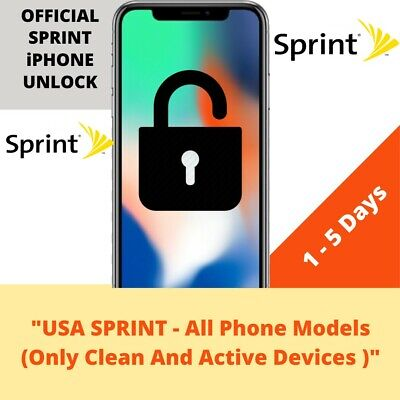 $88.99 • Buy  Sprint Factory Unlock Service For IPhone 11 11 PRO MAX XS MAX XS XR X 8 7 6