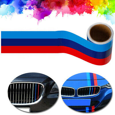 $7.80 • Buy 5FT M-Colored Stripe Sticker Car Vinyl Decal For BMW M3 M4 M5 M6 3 5 6 7 Series