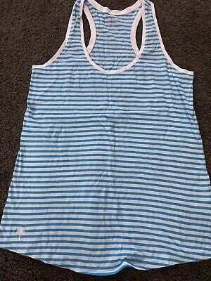 $15 • Buy Lilly Pulitzer Blue Stripe Tank Top Size Small EUC