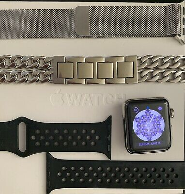 $ CDN202.75 • Buy Apple Watch Series 2 Stainless Steel 38mm With 3 Bands- ZERO Scratches