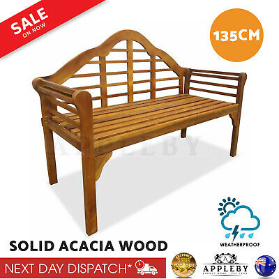 AU223.77 • Buy Wooden Garden Bench Outdoor Furniture Lounge Timber Seat Patio Deck Chair Decor