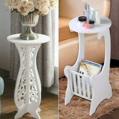 White Bedside Tables Plant Stand Lamp Tables Sofa Side Coffee Table Mini Cabinet • 14.99£