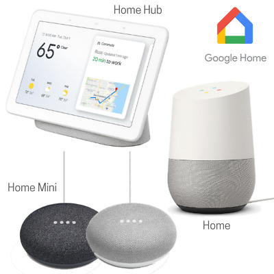 AU126.13 • Buy Google Home Smart Speaker Range Mini, Hub, Nest Smart Display - Chalk + Charcoal