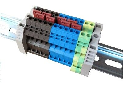£11.22 • Buy Dinkle 2.5mm Linked Din Rail Terminal Pack, 5 X Brown/blue, 2 X Earth 600v, 20a