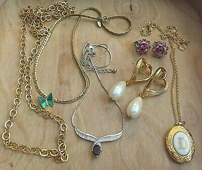 $ CDN13.61 • Buy AVON Vintage Lot 8 Pc DESIGNER Signed JEWELRY Gold Tone Faux PEARLS MIXED