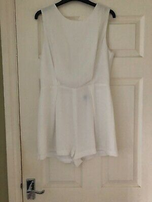 White Back Lace Detail Play Suit  • 8£